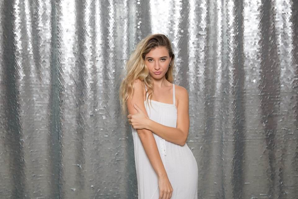 Ohh Snap Photo Booth - Silver Sequins- Backdrop